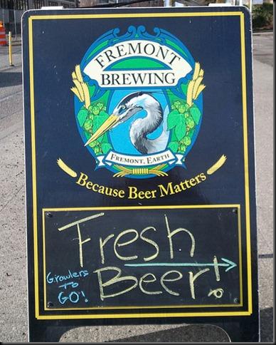 Fresh Fremont beer